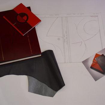 Reliures plein-cuir avec décor, chemise et étui.