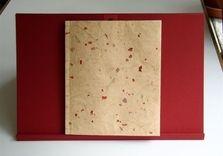 reliure japonaise en papier-fibres léger